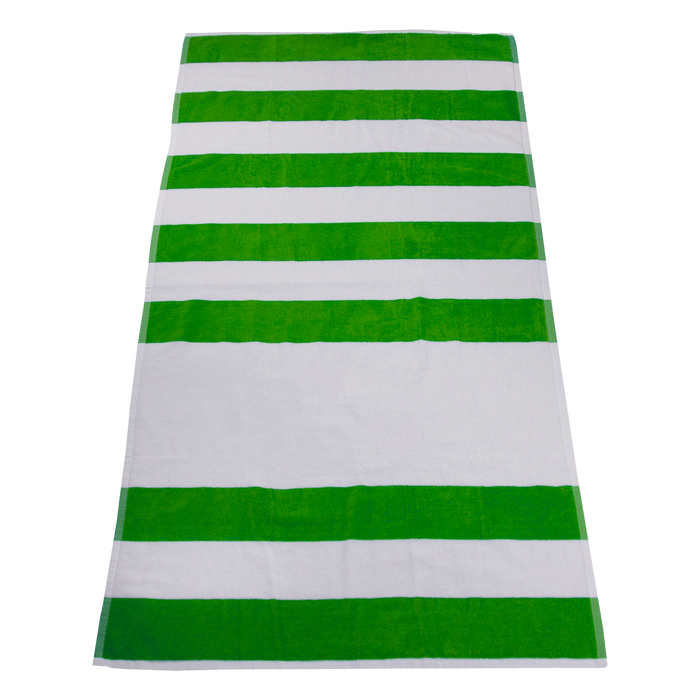 Lime Green Horizon Striped Beach Towel