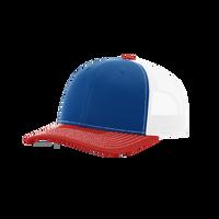 Royal/Red/White Richardson Trucker Snapback Hat Thumb