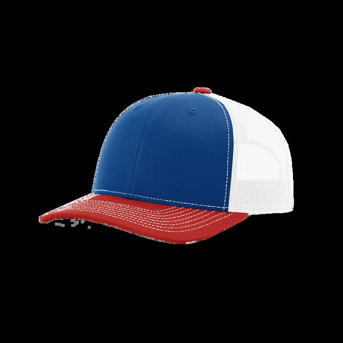 Royal/Red/White Richardson Trucker Snapback Hat