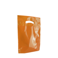 Orange Small Eco-Friendly Die Cut Plastic Bag Thumb