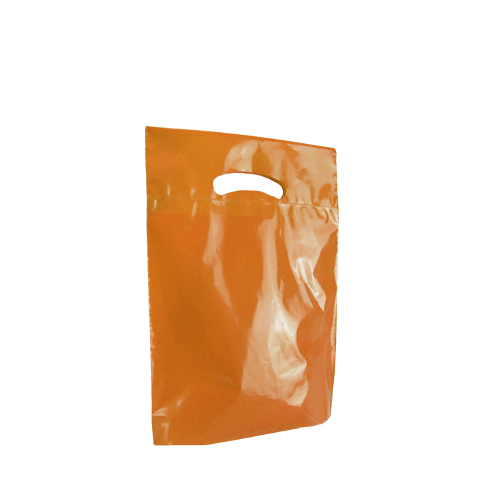 Orange Small Eco-Friendly Die Cut Plastic Bag
