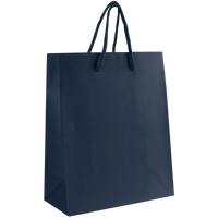 Navy Blue Small Matte Shopper Bag Thumb