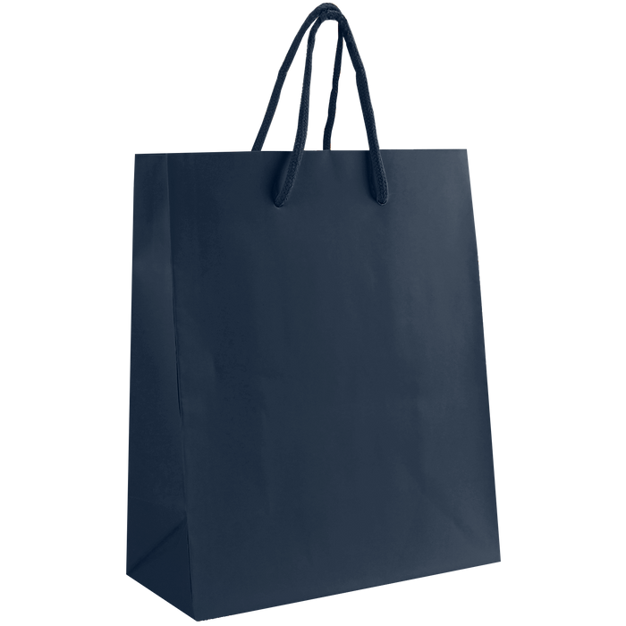 Navy Blue Small Matte Shopper Bag