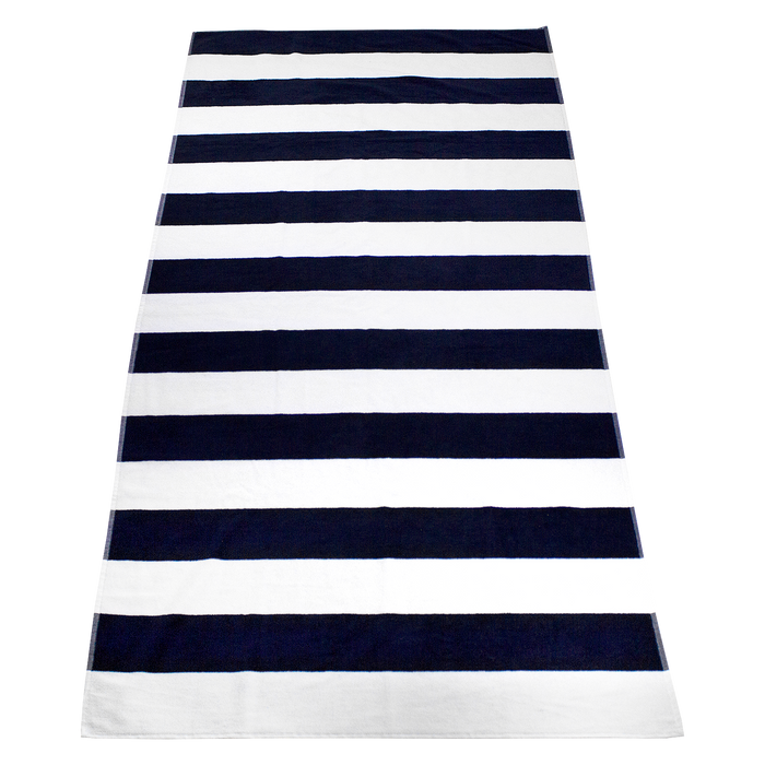Navy Santa Maria Striped Beach Towel