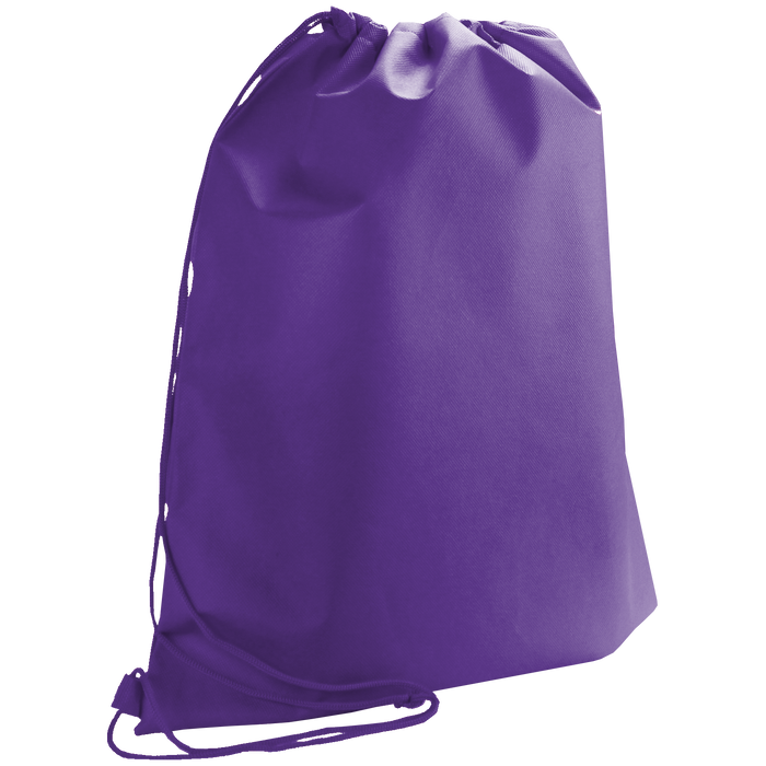 Purple Classic Drawstring Backpack