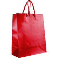Red Small Glossy Shopper Bag Thumb