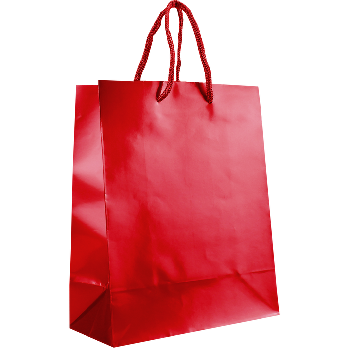 Red Small Glossy Shopper Bag
