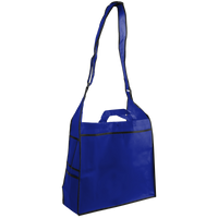 Royal Blue Messenger Tote Bag Thumb