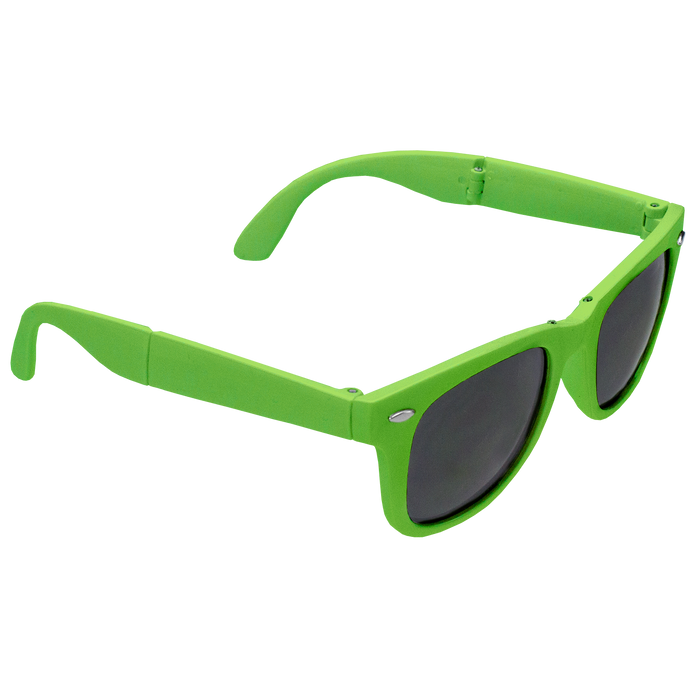 Lime Green Reno Folding Sunglasses