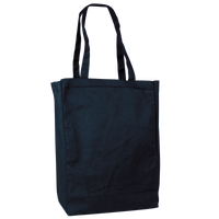 Navy Blue Cotton Canvas Tote Thumb