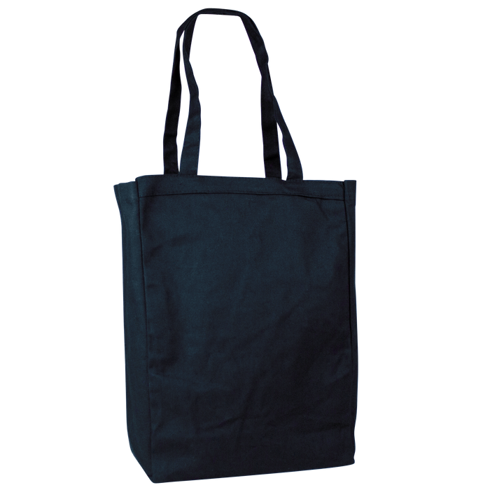 Navy Blue Cotton Canvas Tote