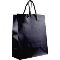 Black Small Glossy Shopper Bag Thumb