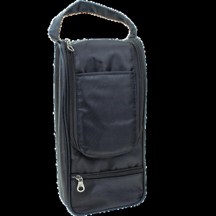 Black Insulated 2 Bottle Wine Bag