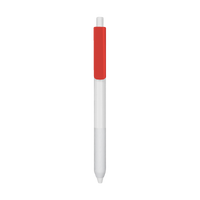 Red with Black Ink Antibacterial Pen Thumb