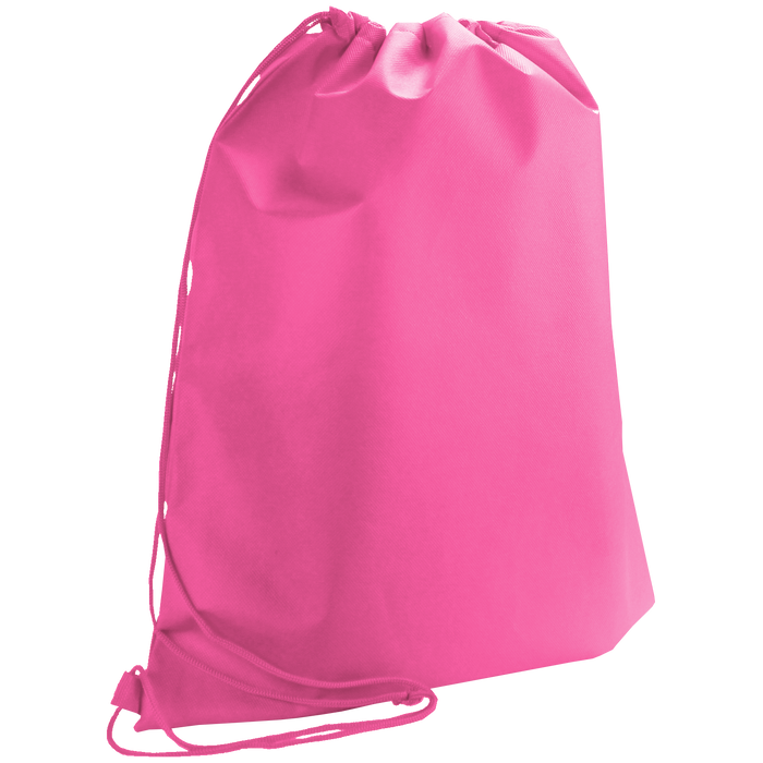 Bright Pink Classic Drawstring Backpack