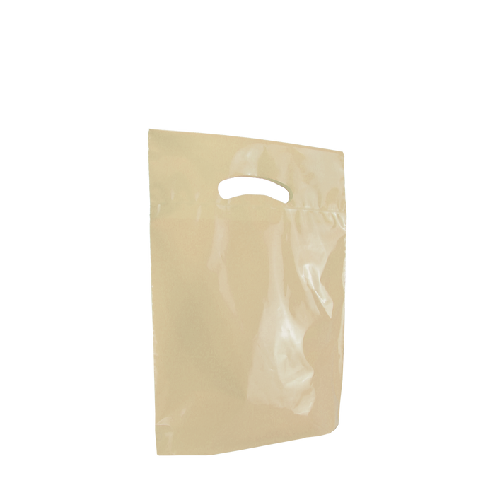 Ivory Small Eco-Friendly Die Cut Plastic Bag