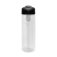 Clear Sport Water Bottle with Flip Up Straw Thumb
