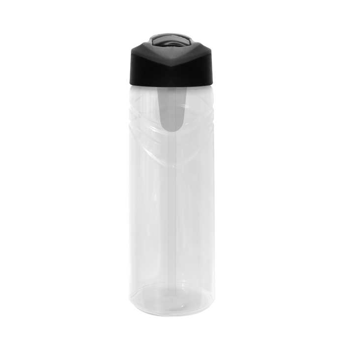 Clear Sport Water Bottle with Flip Up Straw