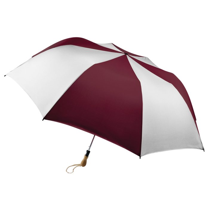 Burgundy/White Leo Umbrella
