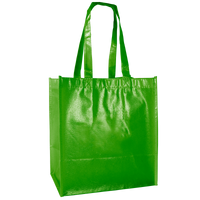 Lime Green Laminated Little Storm Grocery Bag Thumb