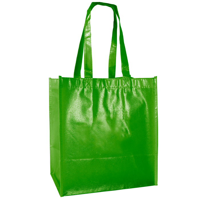 Lime Green Laminated Little Storm Grocery Bag
