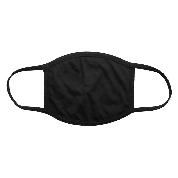 Black 3 Ply Cotton Face Mask
