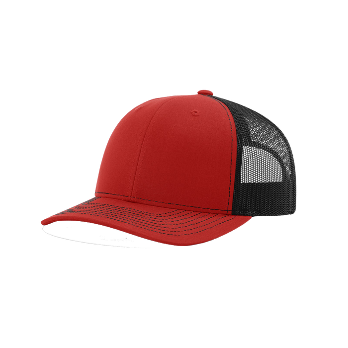 Red/Black Richardson Trucker Snapback Hat
