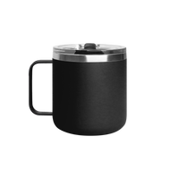 Matte Black Stainless Steel Insulated Camper Mug Thumb
