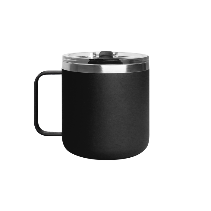 Matte Black Stainless Steel Insulated Camper Mug