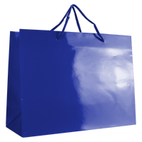 Royal Blue Large Glossy Shopper Bag Thumb