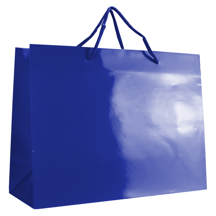 Royal Blue Large Glossy Shopper Bag