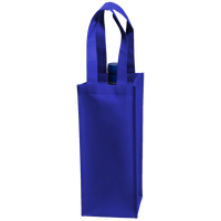 Royal Blue Single Bottle Wine Tote Thumb