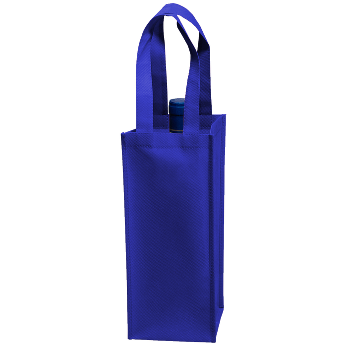 Royal Blue Single Bottle Wine Tote