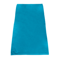 Turquoise Classic Color Beach Towel Thumb
