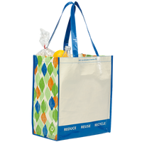 Blue PET Pattern 1767 Green Recycled Tote Thumb
