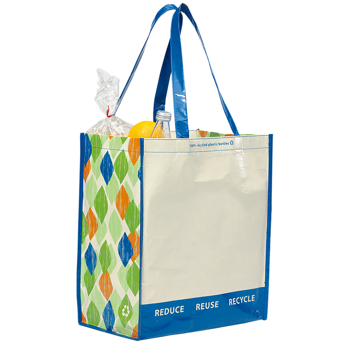 Blue PET Pattern 1767 Green Recycled Tote