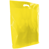 Yellow Large Die Cut Plastic Bag Thumb