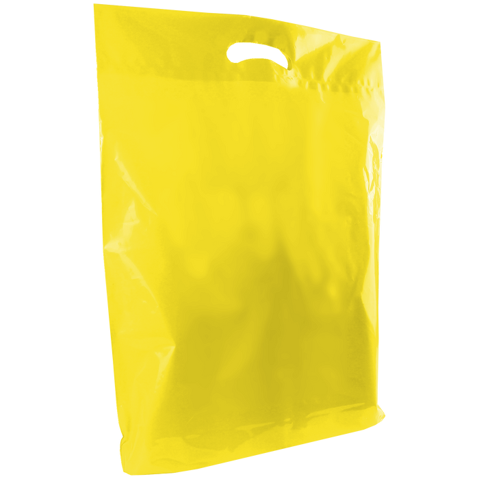 Yellow Large Die Cut Plastic Bag