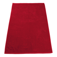 Red Seascape Color Beach Towel Thumb