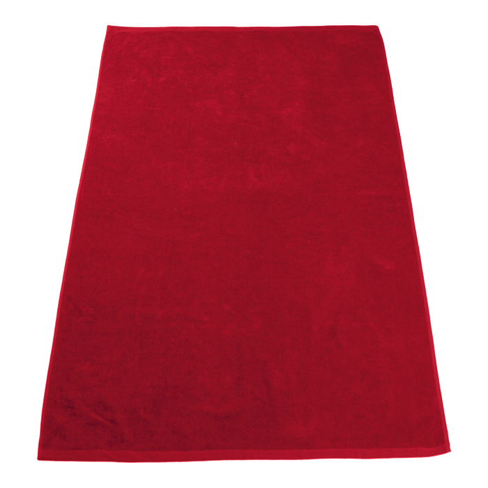 Red Seascape Color Beach Towel