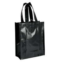 Black Laminated Fiesta Tote Thumb