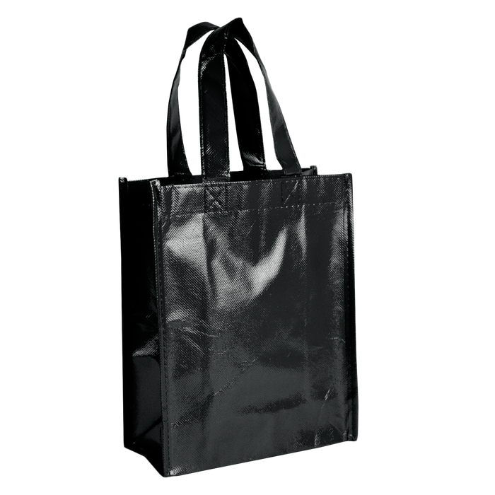 Black Laminated Fiesta Tote