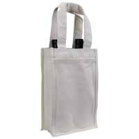 Natural Heavyweight 2 Bottle Wine Tote Thumb