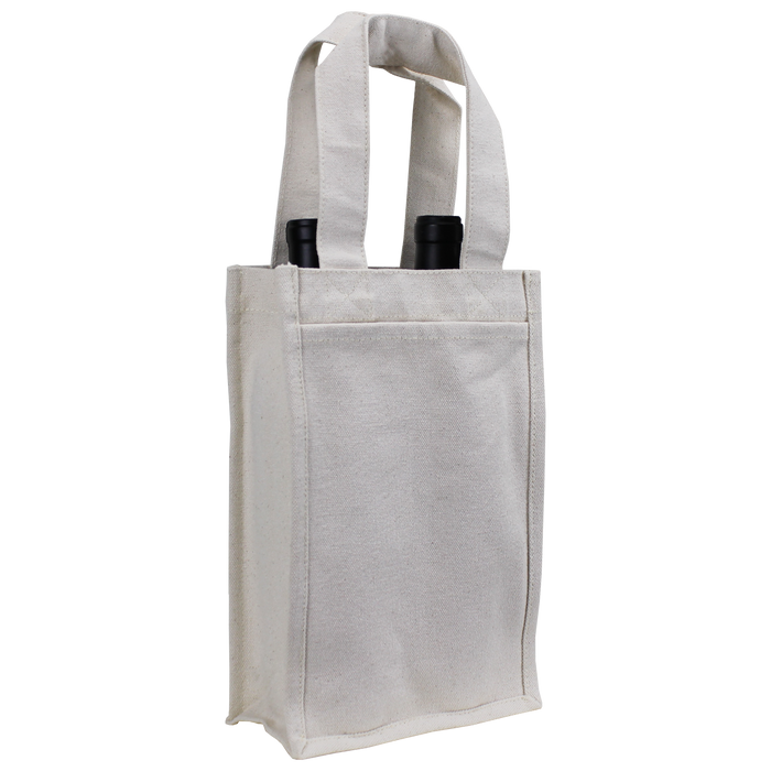 Natural Heavyweight 2 Bottle Wine Tote