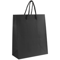 Black Small Matte Shopper Bag Thumb