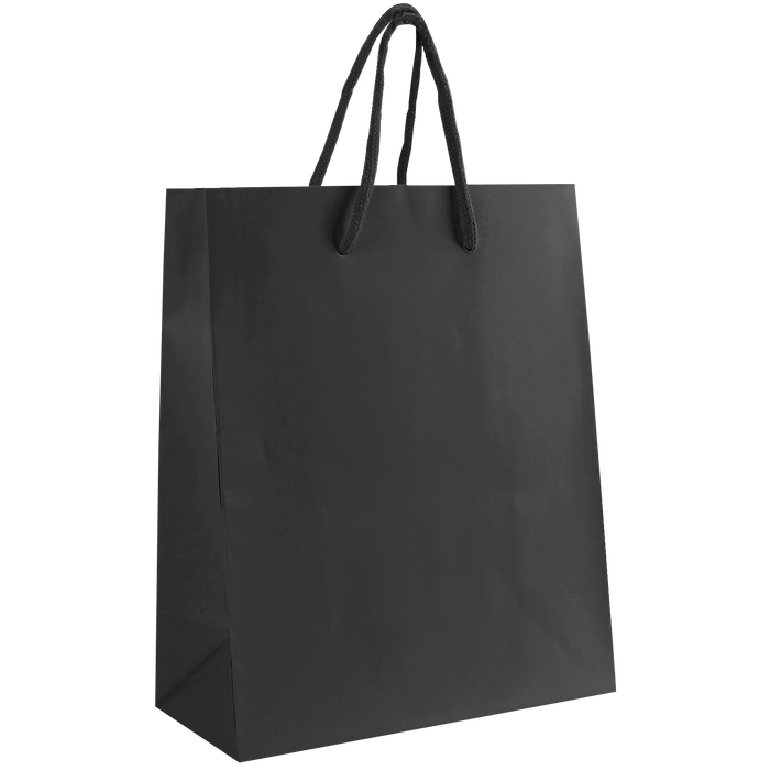 Black Small Matte Shopper Bag