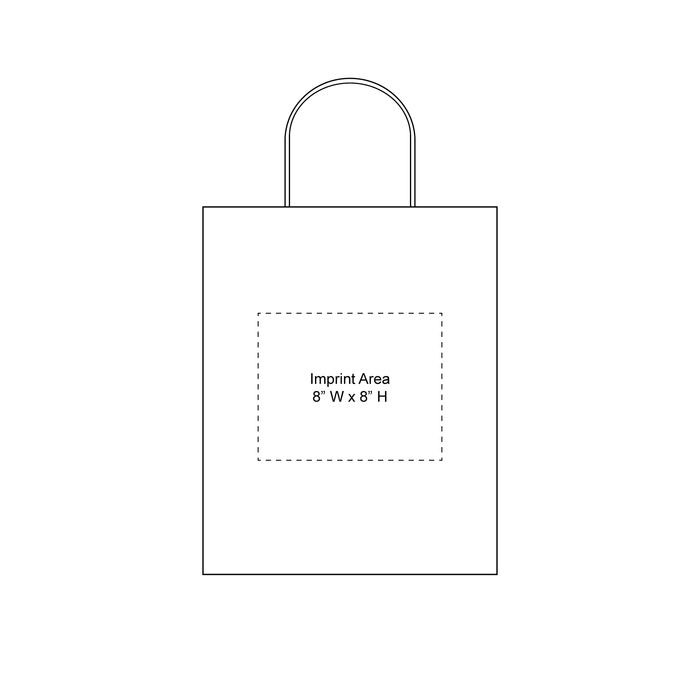 Extra Small White Paper Shopper Bag