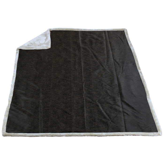 Arctic (20214) Rustic Faux Leather Throw