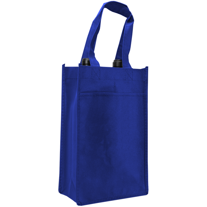 Royal Blue 2 Bottle Wine Tote