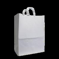 White Large White Paper Shopper Bag Thumb